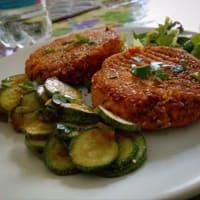 Hamburguesa vegetariana de garbanzos