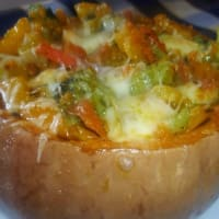 Pumpkin stuffed with vegetables