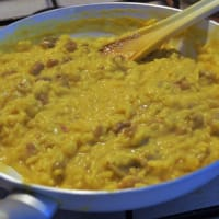 Risotto con castagne e salsiccia step 2