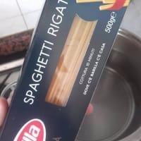 Spaghetti rigati con polpa di zucca e olive dolci step 6