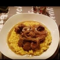 ossobuco con risotto Milanese