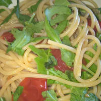 Spaghetti With Tomato With Rucola