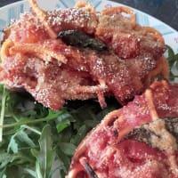 Barchette berenjena rellena gratinado Troccoli paso 11
