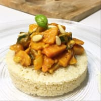 Couscous alla cannella con verdure al curry