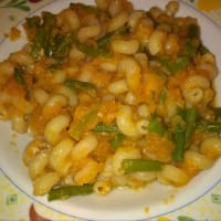 Pasta With Pumpkin And Green Beans