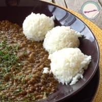 Lentejas al curry y leche de coco