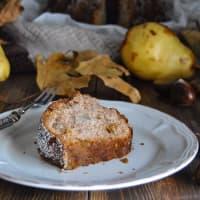El buñuelo con harina de castañas, peras y confitada paso 5