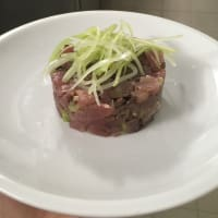 Tuna with olives and celery