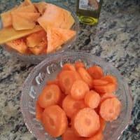 Crema de calabaza y zanahoria paso 1