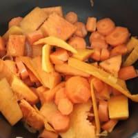 Crema de calabaza y zanahoria paso 2