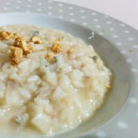 Gorgonzola risotto and pears