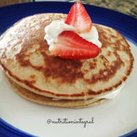 Pan cakes de avena y yogurt