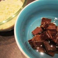 Cioccopera torta con almendras paso 1