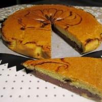 Cioccopera torta con almendras paso 7