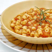 Pasta y garbanzos