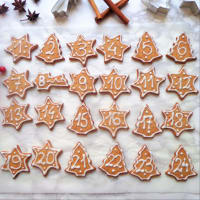Christmas biscuits for advent calendar