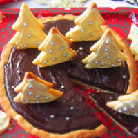 Christmas chocolate tart