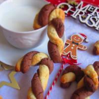 galletas de chocolate bastón de caramelo