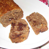 Bran cake plumcake without eggs and without butter