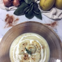 Cauliflower and potato cream