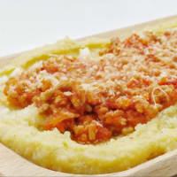 Polenta 5 cereales con salsa suave y queso parmesano paso 5