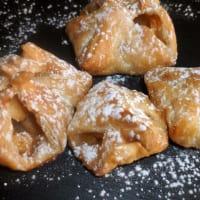 Los haces de pasta de hojaldre rellenos de manzanas
