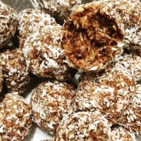 Pralines With Dates, Dried Fruit And Coconut