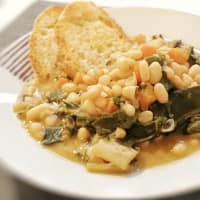 Soup with chard and beans