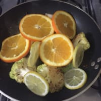 Orata al cartoccio con insalata di agrumi calda step 8