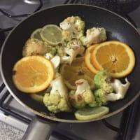 Orata al cartoccio con insalata di agrumi calda step 9