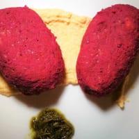 Crocchette barbabietola, ceci e pecorino