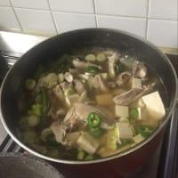 Sopa de pollo con verduras y tofu paso 5