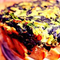 Torta di spinaci in crosta di patate
