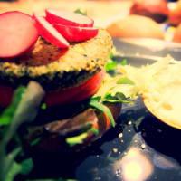 Hamburguesa de soja vegano