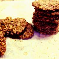 rústicos Galletas de salvado, semillas de lino y cacao
