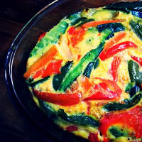 Baked vegan vegetable omelette