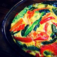 Frittata vegan di verdure al forno