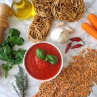 Tagliatelle con ragù di lenticchie step 1
