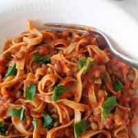 Tagliatelle con ragù di lenticchie step 4
