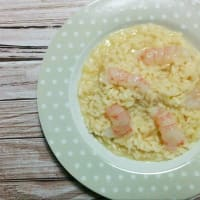 Risotto with shrimps and lime