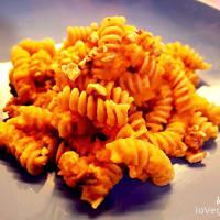 Integrante Fusilli con pesto zanahorias y nueces