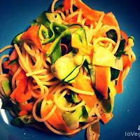 Spaghetti con nastri di verdure step 5