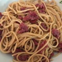 Spaghetti integrali alla carbonara fit