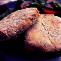 Hamburguesa de lentejas rojas y semillas de lino