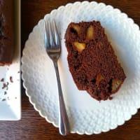 de chocolate vegetariana plum cake de manzana