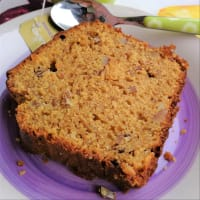Orange plumcake, yogurt and almonds