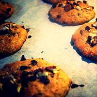 galletas de avena, chocolate y nueces paso 5