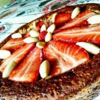 tarta de naranja suave, con verduras crema de canela. paso 4