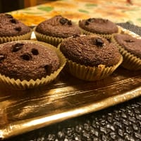 Muffin con gotas de chocolate