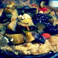 Flan di amaranto con melanzane e pomodorini al basilico step 4